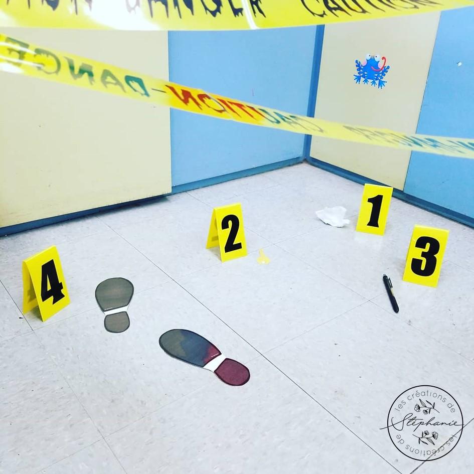 Une scène de crime en classe