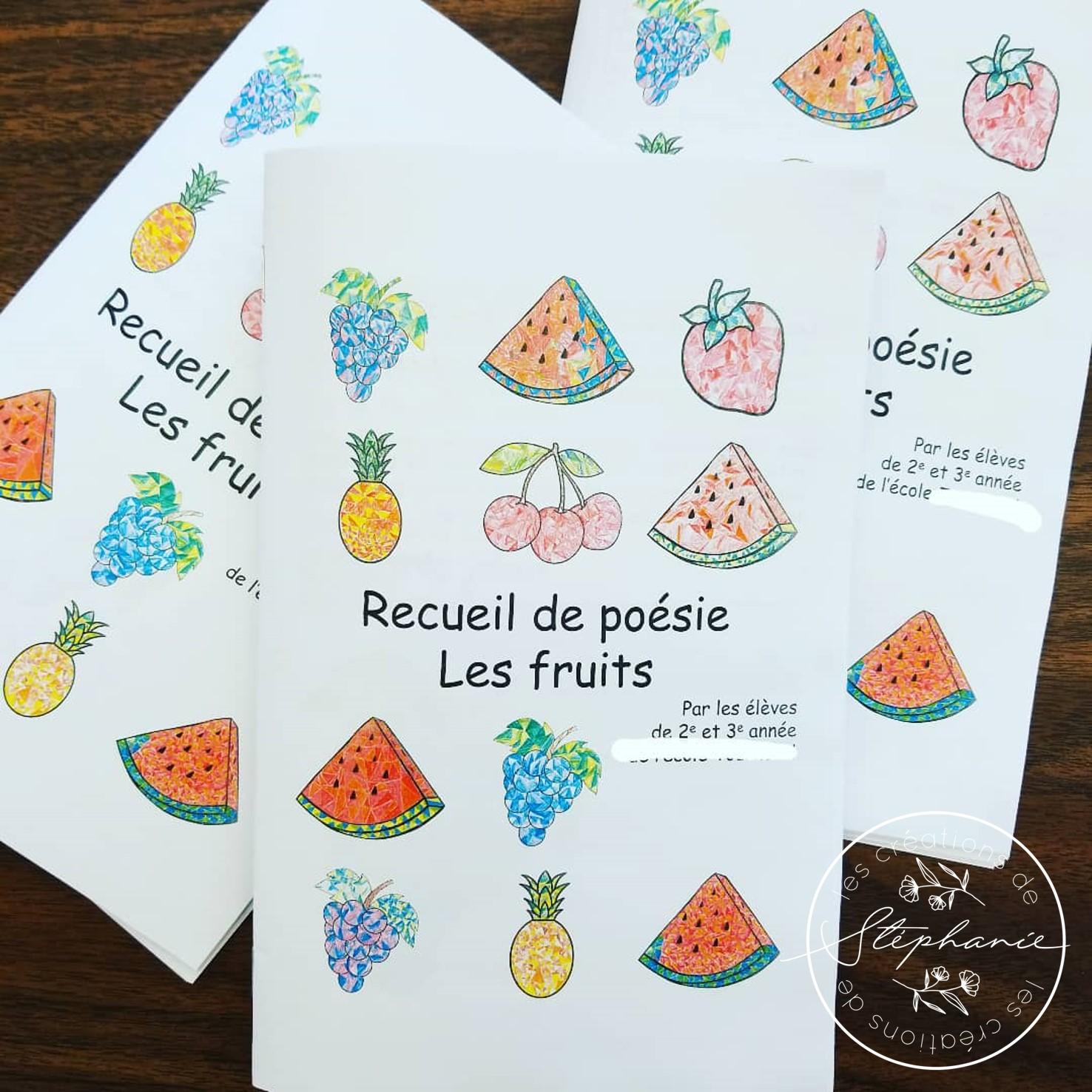 Un recueil de poésie : Les fruits